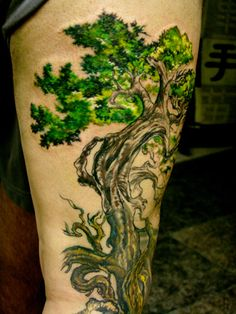 Tree of Life tattoo designs can be designed in many ways. The Tree Of Life is a Celtic symbol, representing the circle of life, the complete journey of life. Tree of Life tattoos are a popular tattoo symbol, worn by both men and women. The tradition. Tattoo Son, Back Tattoo, Roots Tattoo, Tattoo Pics, Raven Tattoo, Tattoo Images, All Nature, Nature Tree, Green Nature