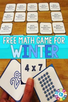 FREE Winter Multiplication Memory Game makes practicing fours and fives… Fun Classroom Activities, Math Classroom, Winter Activities, Fun Math, Numeracy Activities, Array Multiplication, Third Grade Math, Grade 3, Fourth Grade