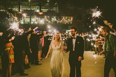 bride and groom real wedding sparkler exit - via newly engaged: 8 things to do right now sparklers wedding;sparklers for wedding;sparklers at wedding; Wedding Send Off, Wedding Bows, Wedding Styles, Sparkler Pictures, Wedding Day Timeline, Wedding Background, Wedding Sparklers, Marrying My Best Friend, Real Weddings