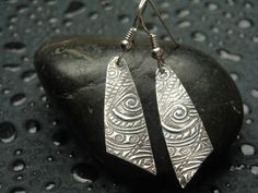 Fine Silver Earrings  Calypso Dangles  PMC  by Silvermaven on Etsy, $34.00
