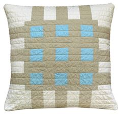 Barbara Perrino modern quilted pillow  #thinkbigbook #pillowcollective