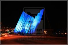 Tromsø The Arctic Cathedral in blue - World Diabetes Day