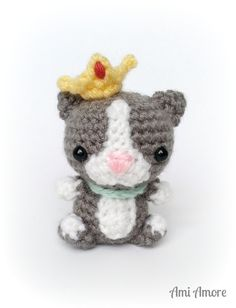 Amigurumi Kitty Cat - Crochet Animal Plushie, Princess Kitty Doll, Amigurumi Stuffed Toy, Children's Gift, Girl's Toy Gift