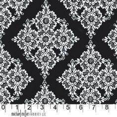 Linda Lace in Black -- Manufacturer: Michael Miller -- Designer: Michael Miller House Designer -- Collection: Mod Basics -- Print Name: Linda Lace in Black