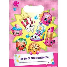 Party Bags: Shopkins Party Plastic Loot Bags (8pk)