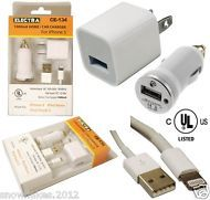 USB HOME AND CAR CHARGER  1000ma UL LISTED For iPhone 5 iPod Touch 5, iPod Nano