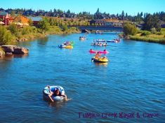 Floating the Deschutes through the Old Mill in Bend Oregon