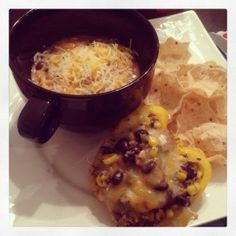 Fit Foodie: Short week...then turkey! #cooking #fitfoodie #menu Slow Cooker Chicken Fajita soup and Quinoa black bean stuffed peppers
