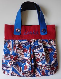 A personal favorite from my Etsy shop https://www.etsy.com/listing/238404971/walk-usa-cotton-patriotic-fabric-tote