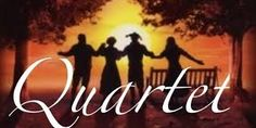 """""""Quartet""""  A dramatic comedy by Ronald Harwood. Directed by Greg Culet.  Run dates: 4/13-4/28, 2018.  Cecily, Reggie and Wilfred reside in a home for retired opera singers in Kent, England. Each year, there is a concert to celebrate Verdi's birthday. Jean, who used to be married to Reggie, arrives at the home and disrupts their equilibrium. She still acts like a diva and refuses to sing. But the show must go on in this funny and poignant play."""