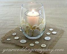 Burlap or jute is a perfect accent fabric for rustic or vintage-themed weddings. Tie it around mason jars and candles, or used as fabric to accent chair backs.