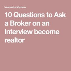 real estate interview questions