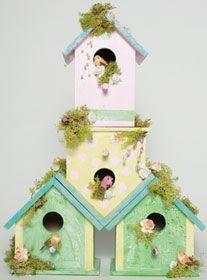 Beach Birdhouse Condo created with FolkArt paints