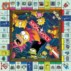 The Simpsons Monopoly Board