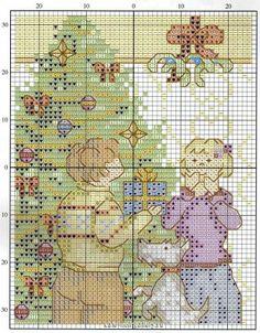 Points de croix **@* Cross stitch Xmas card 3
