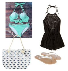 """""""Beach day!"""" by blairmarker on Polyvore featuring mode, Hollister Co. en Accessorize"""