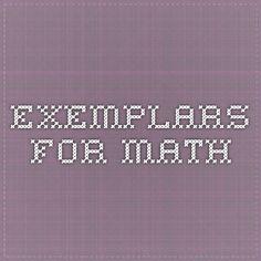 Exemplars for Math