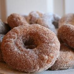 Super Easy Doughnuts Allrecipes.com I added 2 tbsps of sour cream instead of viniger and milk and I used corn oil instead of shortening.