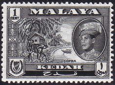 Malay State of Kedah 1959 SG 104 Copra Fine Mint SG 104 Scott 95 Other British Commonwealth Empire and Colonial stamps for sale Here