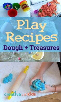 8 Simple Play Recipes - great ways to include sensory dough activities in a busy box for preschoolers and get longer play time out of them.