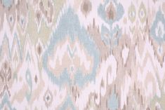 Ikat Pattern Fabric :: Mill Creek Terlina - Paramount Printed Cotton Drapery Fabric in Spa $9.95 per yard - FabricGuru.com: Discount and Wholesale Fabric, Upholstery Fabric, Drapery Fabric, Fabric Remnants