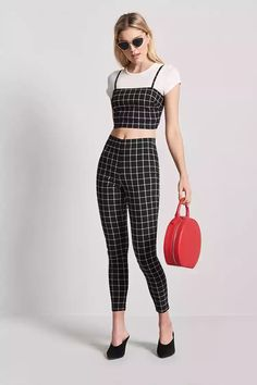 Product Name:Grid Ankle Pants, Category:bottoms, Price:19.9
