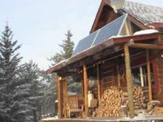 Solar Power Off The Grid Log Cabin - YouTube