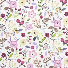 Sweet Briar Fabric - Lavender (5868/805) - Prestigious Textiles Forest Friends Fabrics Collection