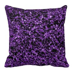 Glitter purple texture throw pillow