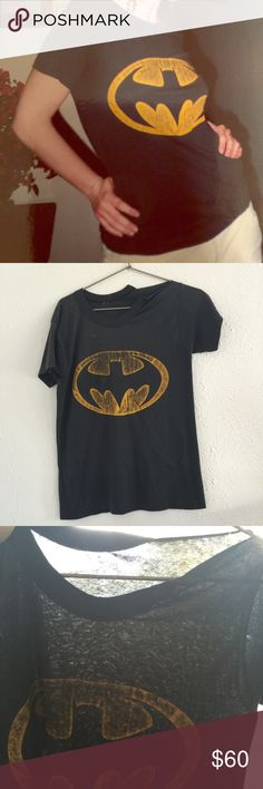 VTG 80's original Batman tee 50/50 paper thin M/L VTG 80's original Batman tee 50/50 screen stars paper thin M/L - thrashed, punk... One shoulder is split down the seam, there's a light spot on the front, and a few small runs and holes throughout... It's far from perfect, but feels like it. Wish it didn't remind me of an x *ha! Vintage Tops Tees - Short Sleeve