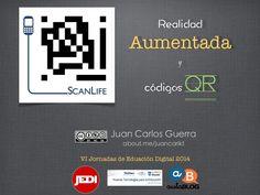 Presentación para el taller Realidad Aumentada y códigos QR de las VI Jornadas de Educación Digital JEDI . Cátedra Telefónica Deusto y Aulablog