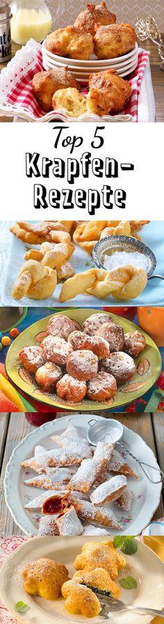 Zu #Karneval dürfen süße #Krapfen nicht fehlen! Hier sind unsere schönsten #Rezepte