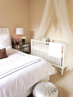 decorology: Nursery in the master bedroom: Room in with your baby in style