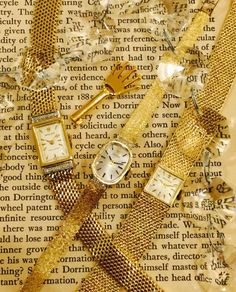 Women's Luxury Watches For Travel And Fashion – Voyage Afield Gold Diamond Watches, Gold Watches Women, Vintage Watches Women, Vintage Ladies, Ladies Watches, Cute Jewelry, Vintage Jewelry, Gold Jewelry, Big Watches