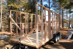 Framing is a really exciting time in your building process. A simple guide on how to frame your tiny house the right way, including advanced framing. Tiny House Kits, Small Tiny House, Modern Tiny House, Tiny House Cabin, Tiny Houses, Tiny House Trailer Plans, Tiny House Plans, Tiny House On Wheels, Timber Garage