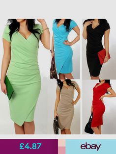 8d1467c4a6 Best Quality 2014 Summer Women s Short Sleeve V-neck Elegant Casual Formal  Work Evening sexy Pencil Plus Size Dress