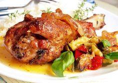 Pečené krůtí paličky na másle Tandoori Chicken, Chicken Wings, Meat, Ethnic Recipes, Beef, Buffalo Wings