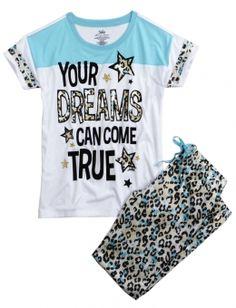 DREAM CHEETAH PAJAMA SET | GIRLS PAJAMAS CLOTHES | SHOP JUSTICE