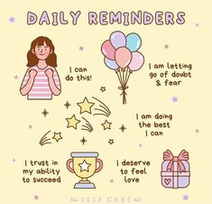 Reminder Quotes, Self Reminder, Daily Reminder, Cheer Up Quotes, Cute Inspirational Quotes, Self Care Bullet Journal, Cute Messages, Mental And Emotional Health, Positive Words