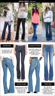 denim series: flare jeans / how to wear flare jeans / spring denim trends