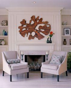 Tree trunk slice as art
