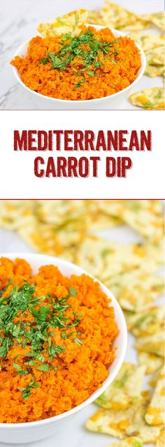 This Mediterranean Carrot Dip is a fun way to eat your daily veggies!