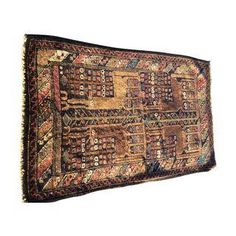 "Vintage Baluchi Persian Rug 2'-9"" x 4'-5"""