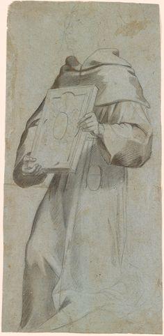 Attributed to Francesco Vanni 1563-1610, Study of the Drapery for the St. Bernardino?, 1993.210
