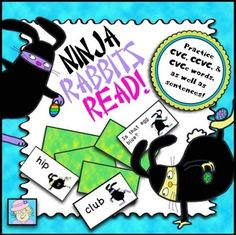 FREE! I created this engaging, ninja-themed card game just for beginning readers.