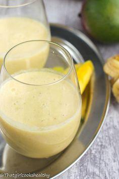 Mango, banana and pineapple smoothie (dairy free)