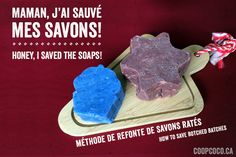 A way to save your botched batches Coop Coco, Savon Soap, Stuff And Thangs, Cold Process Soap, Ways To Save, Soap Making, Save Yourself, Voici, Homemade