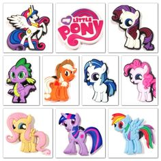 a6ad6b030 10 x My Little Pony Shoe Charms Jibbitz for Crocs Accessories Toppers Party  Bags