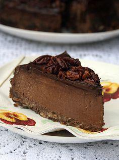 Шоколадно-творожный(сырный) торт с засахаренным пеканом