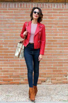 a056a111c2a01 CHAQUETA DE CUERO ROJA  chaqueta  chaquetadecuero  cuero Chaqueta Cuero  Roja